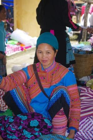 flowered: Woman Hmong flowered  Region Mai Chau