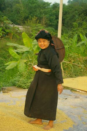 Grandma Thai in traditional costume Stock Photo - 18649537