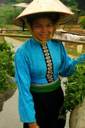 Portrait of a Black Thai ethnic woman