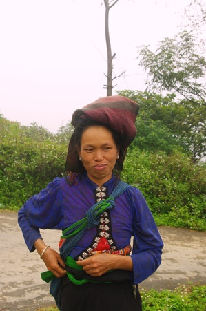 White Thai ethnic woman photo