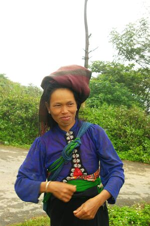 Portrait of a woman Khang white Editorial