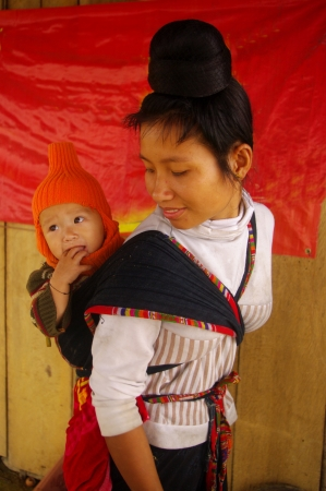A Thai mother and her baby