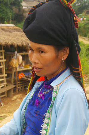 Portrait of a Thai woman in traditional costume