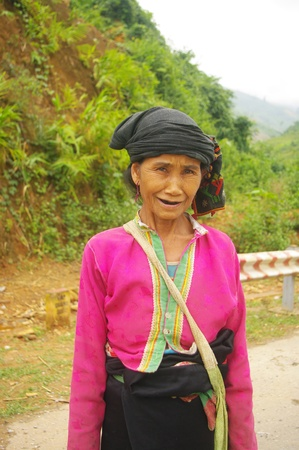 Portrait of a grandmother ethnicity  Khang  photo