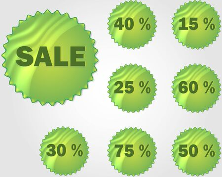 star product: stickers set with sale items Illustration