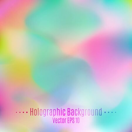 opal: Vector Blurred Holographic Background. Abstract Opal Pastel Multicolored Smooth Texture for Design.