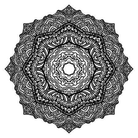 Mandala. Floral ethnic abstract decorative elements. Hand drawn background.