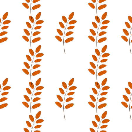 Vector Autumn Leaves for Seamless Pattern Design.