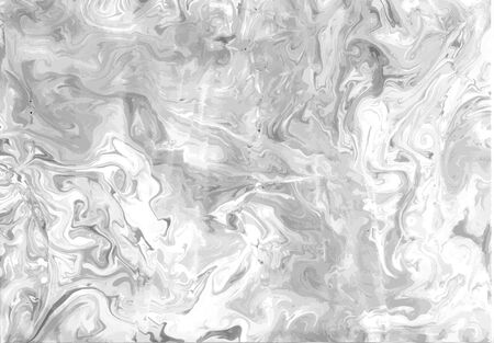 Ink Marble Black and White Grunge Vector Texture. Liquid Abstract Surface for Mockup Design and Background. Artistic Ebru Painting.