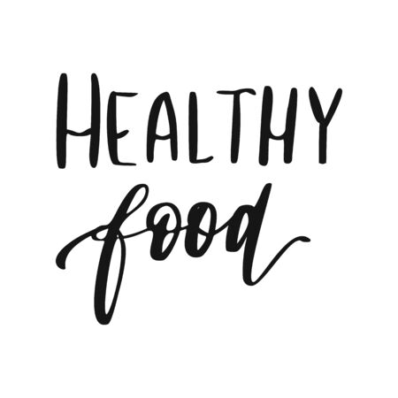 Healthy food lettering. Hand drawn natural sign.