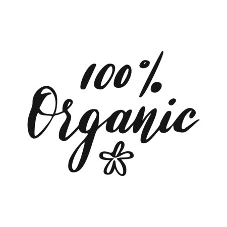 Organic lettering. Hand drawn natural sign. Vegan eco icon.