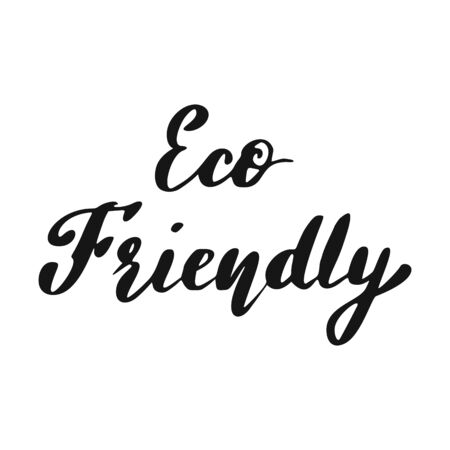 Eco Friendly Lettering. Healthy food hand drawn icon.