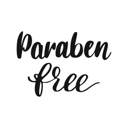 Paraben free Lettering. Healthy Natural cosmetics hand drawn icon.