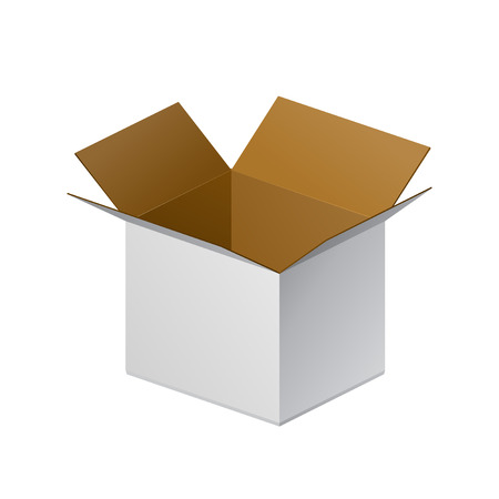 Carton Package Box Open On White Background Isolated. Ready For Your Design. Product Packing Vector EPS10 Vector