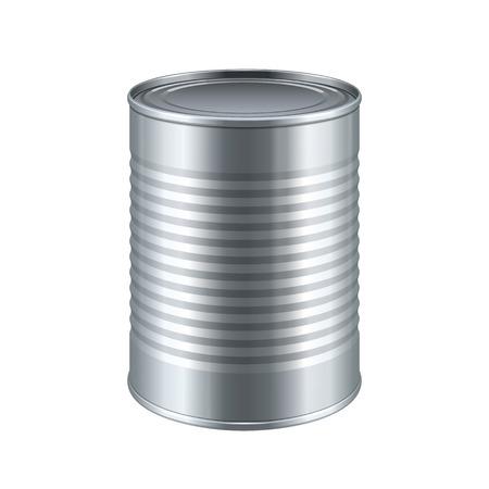 Tincan Seler Metal Tin Can, Konserwy. Gotowy do projektowania. Pakowanie produktów wektora EPS10