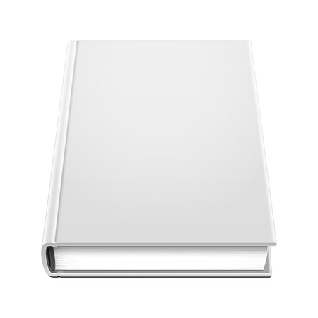 hardcover: Blank Hardcover Book Illustration Isolated On White Background.