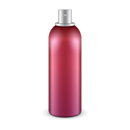 Red Aerosol Spray Metal 3D Bottle Can 일러스트