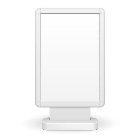 lightbox: 3D Outdoor Advertising Rounded Citylight Lightbox Advertising. Illustration Isolated On White Background. Vector EPS10