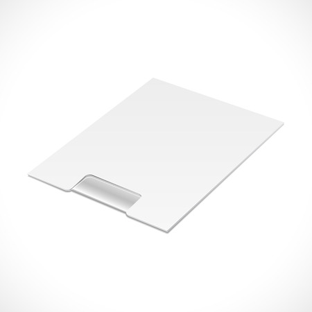 tights: White Window Patch Container Panties Tights Pantyhose Product Cardboard, Carton Package Box Open On White Background Isolated. Ready For Your Design. Product Packing Vector EPS10