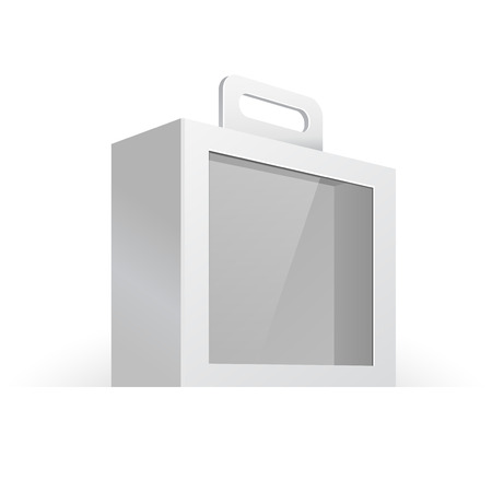 window case: Carton Or Plastic White Blank Package Box With Handle And Window