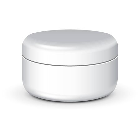 woman face cream: Cream, Gel Or Powder Jar Can Cap Bottle