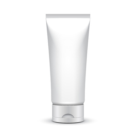 Tube Of Cream Or Gel Grayscale Silver White Clean Illustration