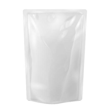 Weiße leere Folie essen oder zu trinken Beutel-