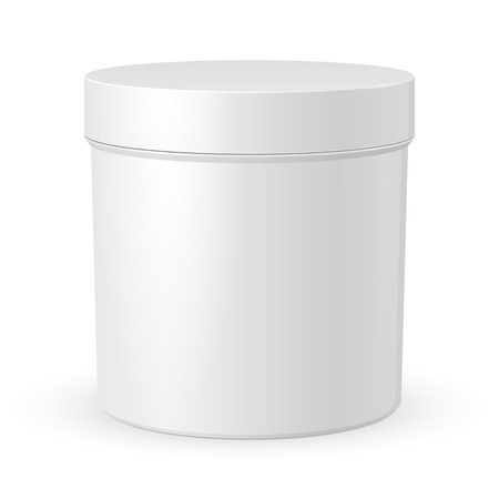 Save to a lightbox  Find Similar Images  Share Stock Vector Illustration: Cosmetic Cream, Gel Or Powder, Light Gray, White, Jar Can Cap Bottle. Blank On White Background Isolated. Ready For Your Design. Product Packing Vector EPS10