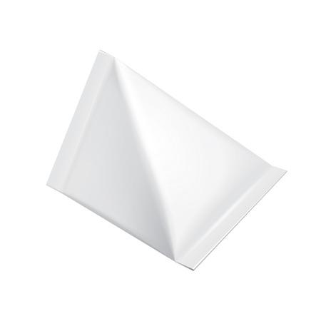 tetraedro: Tetraedro alimentare Cartone del latte Pacchetti Blank bianco. Illustrazione isolato su sfondo bianco. Vector EPS10 Vettoriali
