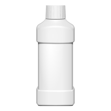 Cream, Shampoo, Gel Or Lotion Plastic Bottle On White Background Isolated. Ready For Your Design. Product Packing Vector EPS10