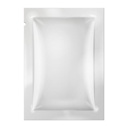 白い長い空白箔包装薬薬またはコーヒー、塩、砂糖、コショウ、スパイス、サシェ、お菓子、キャンデーまたはコンドーム。あなたの設計のプラス
