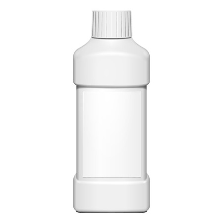 lable: Cream, Shampoo, Gel Or Lotion Plastic Bottle With Lable On White Background Isolated. Ready For Your Design. Product Packing Vector EPS10 Illustration