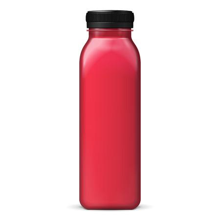 jugo de frutas: Jugo Hasta Mock o rojo p�rpura violeta Jam botella de cristal Jar sobre fondo blanco aislado. Listo para su dise�o. Embalaje del producto. Vector EPS10