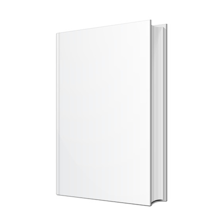 hardcover: Blank Hardcover Book Illustration Isolated On White Background. Mock Up Template Ready For Your Design.