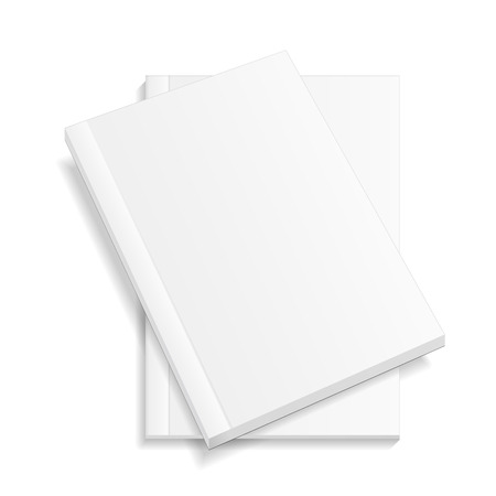 blank magazine: Blank Closed Magazine, Book, Booklet, Brochure. Illustration Isolated On White Background. Mock Up Template Ready For Your Design. Illustration