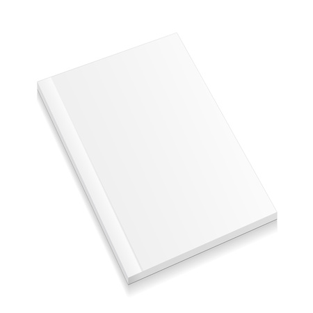 Blank Closed Magazine, Book, Booklet, Brochure. Illustration Isolated On White Background. Mock Up Template Ready For Your Design. Vector EPS10