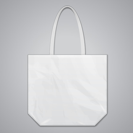 plastic bag: Textile Fabric Eco Plastic Bag Package White Grayscale.