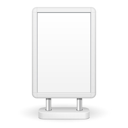 lightbox: 3D Outdoor Advertising POS POI Citylight Lightbox Advertising. Illustration Isolated On White Background. Mock Up Template Ready For Your Design. Vector