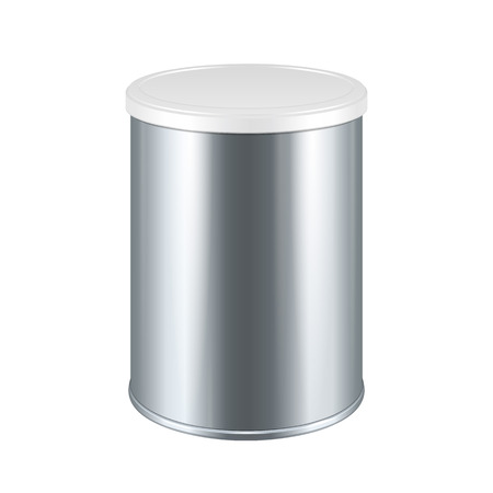 tincan: Tincan Metal Tin Can, Canned Food. Ready For Your Design. Mock Up Template Ready For Your Design. Product Packing Vector