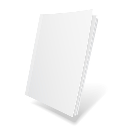 Blank Flying Cover Of Magazine, Book, Booklet, Brochure. Illustration Isolated On White Background. Mock Up Template Ready For Your Design. Vector EPS10 版權商用圖片 - 77257415