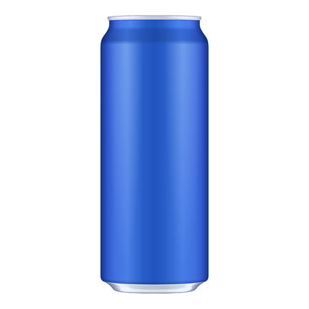 Blue Metal Aluminum Beverage Drink Can 500ml. Mockup Template Ready For Your Design. Isolated On White Background. Product Packing. Vector EPS10 Product Packing Vector EPS10 Illusztráció
