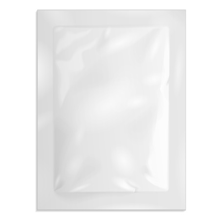 white sugar: White Blank Retort Foil Pouch Packaging Medicine Drugs Or Coffee, Salt, Sugar, Sachet, Sweets Or Condom. Illustration
