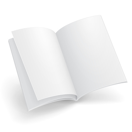 Blank Flying Magazine, Book, Booklet, Brochure, Cover. Illustration Isolated On White Background.