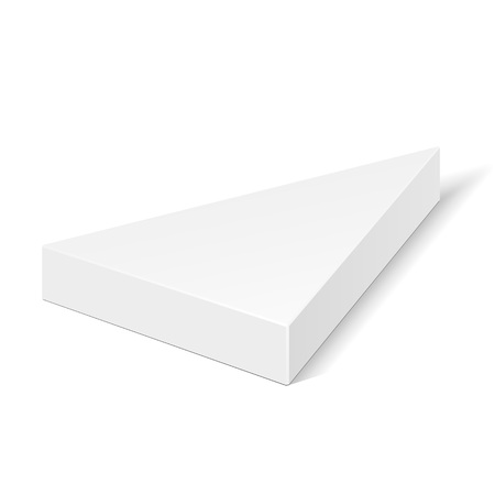 White Cardboard Triangle Box Packaging For Food, Gift Or Other Products.