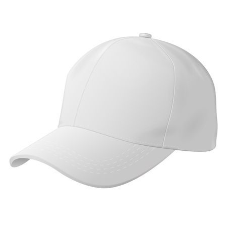 Unisex Outdoor Sport Baseball, Golf, Tennis, Hiking, Uniform Cap Hat. Illustration Isolated On White Background. Mock Up Template Ready For Your Design. Vector EPS10