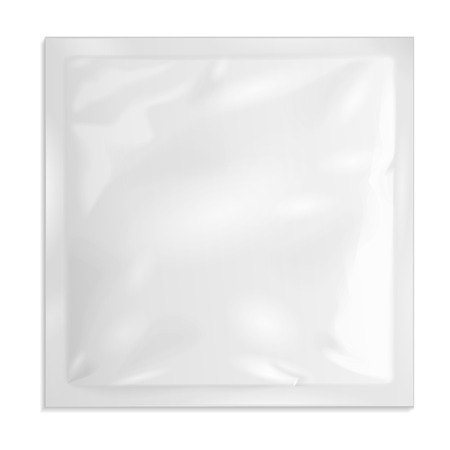white sugar: White Blank Retort Foil Pouch Packaging Medicine Drugs Or Coffee, Salt, Sugar, Sachet, Sweets Or Condom. Illustration Isolated On White Background. Mock Up Template Ready For Your Design. Vector EPS10 Illustration