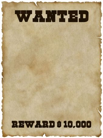 Wanted poster Banque d'images