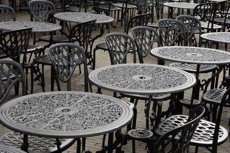 Empty parisian terrace