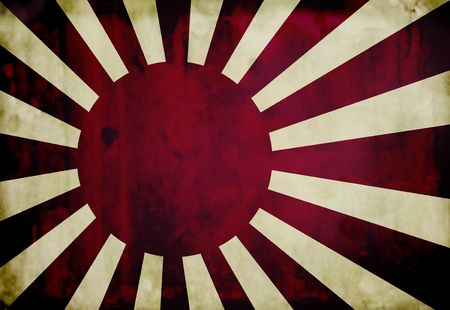 Grunge imperial japanese navy flag