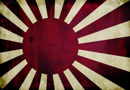 Grunge imperial japanese navy flag